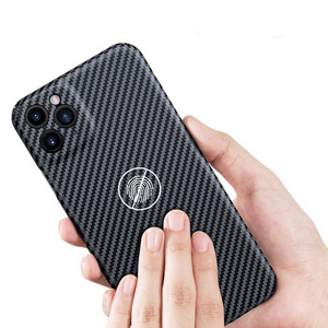 Image 4 - Luxury Real 3D Carbon Fiber Kevlar 0.6mm Thiness Slim Sport Camera Lens Protectiove Case Cover For iPhone 12 11 12Pro 11Pro Max