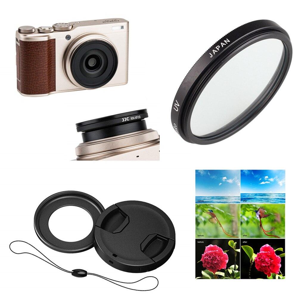 40,5 мм УФ фильтр и фильтр Крепление Адаптер крышка объектива хранитель для цифровой камеры Fujifilm XF10