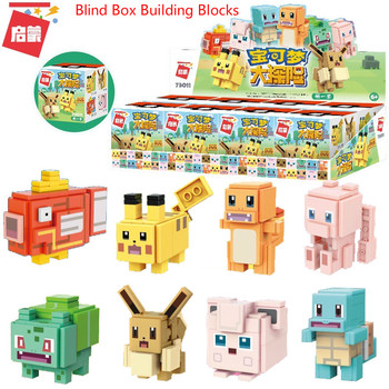 Hasbro Pokemon Building Blocks Toys Mini Assembly Bricks Pikachu Doll Blind Box Anime Action Figure Diamond Blocks Children Toys 1