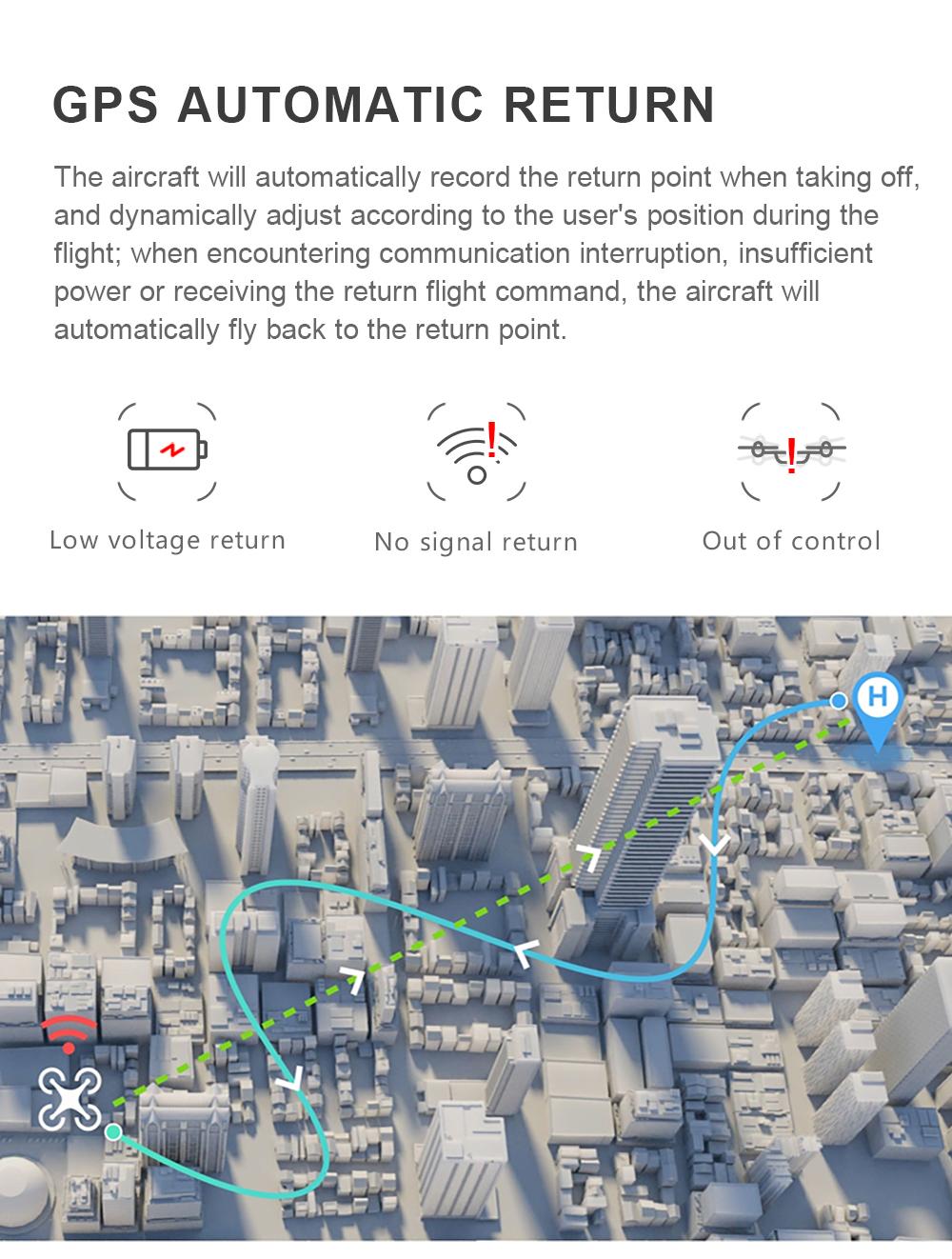 Drone GPS 4K 1080P Cámara Me sigue Quadcopter 13