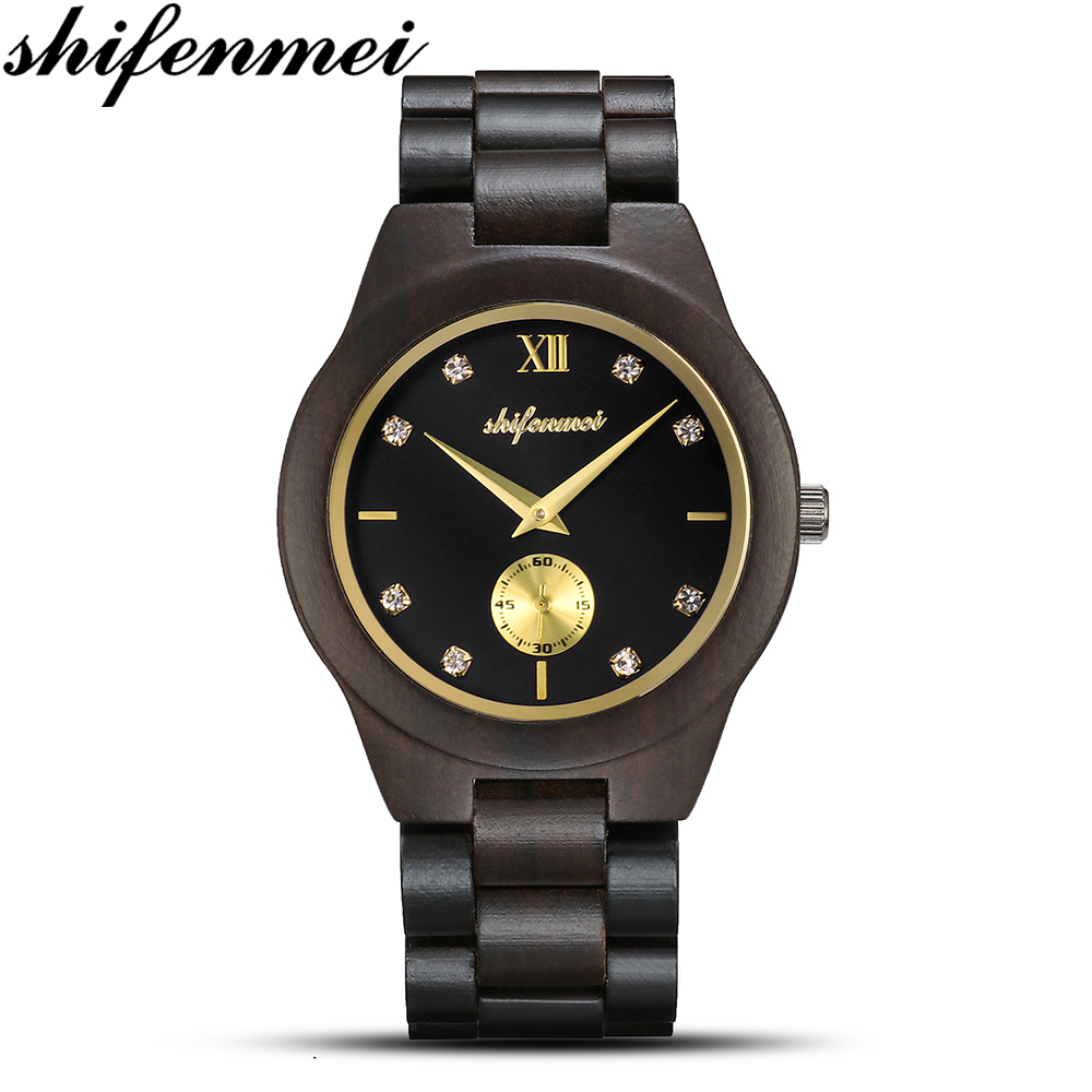 Shifenmei S5518 Wooden Quartz Watch Fashion Men's Women's Watch Neutral Quartz Wrist Watch Reloj Hombre Elojes Hombre