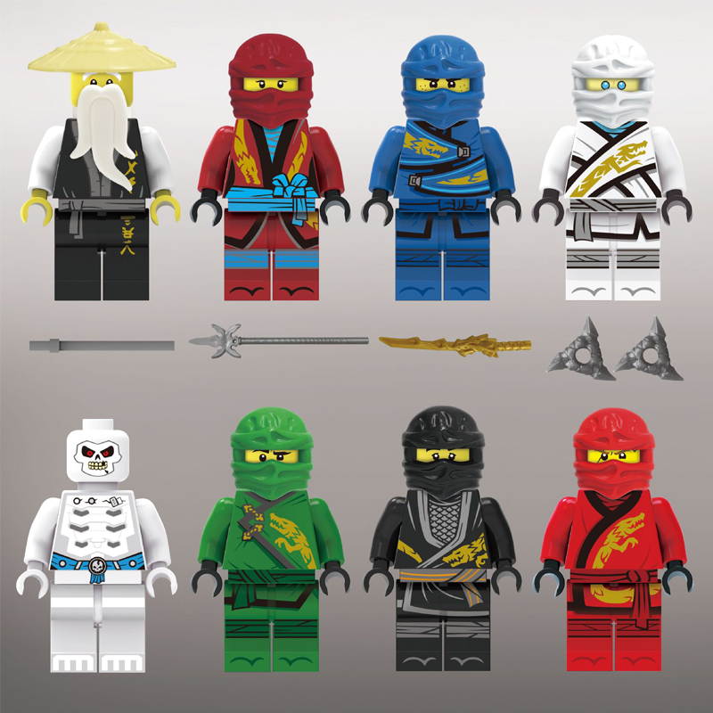 Image 5 - 100pcs/lot Ninjago Marvel Figures Blocks Educational Construction Building Bricks Toys Set For Children Toys-in Blocks from Toys & Hobbies