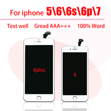Black/White Assembly LCD Display Digitizer for iPhone 6 AAA Quality LCD Touch Screen for iPhone 6S  7  5  6 Plus No Dead Pixel 10 pcs lot aaa 100% no dead pixel for iphone 6 lcd display touch screen digitizer assembly replacement black or white free dhl