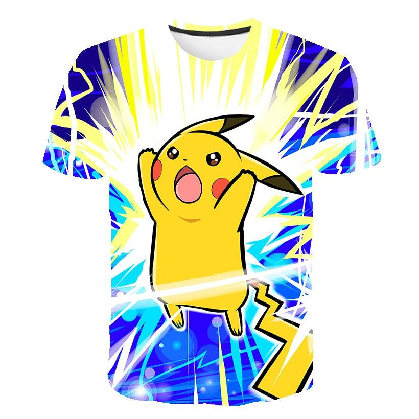 Summer 3D Baby Pokemon T Shirt Kids Pikachu Boys Clothes Children's Wear Japan Anime Aesthetic Tops Casual Camiseta Streetwear