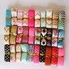 20pcs/lot 30cm length 5/8'' wide mix randomly elastic FOE ribbon for knot hair ties handmade