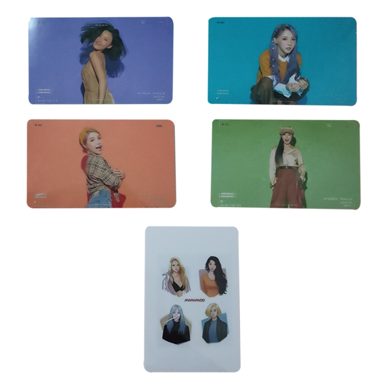 5Pcs/Set MAMAMOO Album Reality In BLACK Self Made Paper Lomo Card Photo Card Poster Photocard Fans Gift Collection
