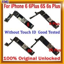 Оригинальная материнская плата для iPhone 6 6 Plus 6S 6s Plus без Touch ID, с полной разблокировкой для iPhone 6 6 P 6S 6s plus логические платы