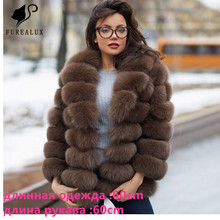 2019 Women New Whole Skin Natural Real Blue Fox Fur Coat Short Paragraph High Quality Handmade Clothing Coats For Customized