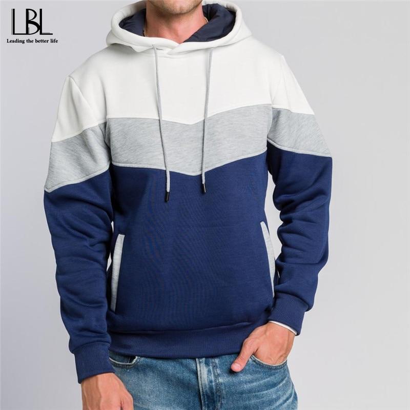 Patchwork Hoodies Men Women Autumn Winter 2020 New Style Mens Hooded Sweatshirts Streetwear Pullover Man Fitness Clothing 4XL