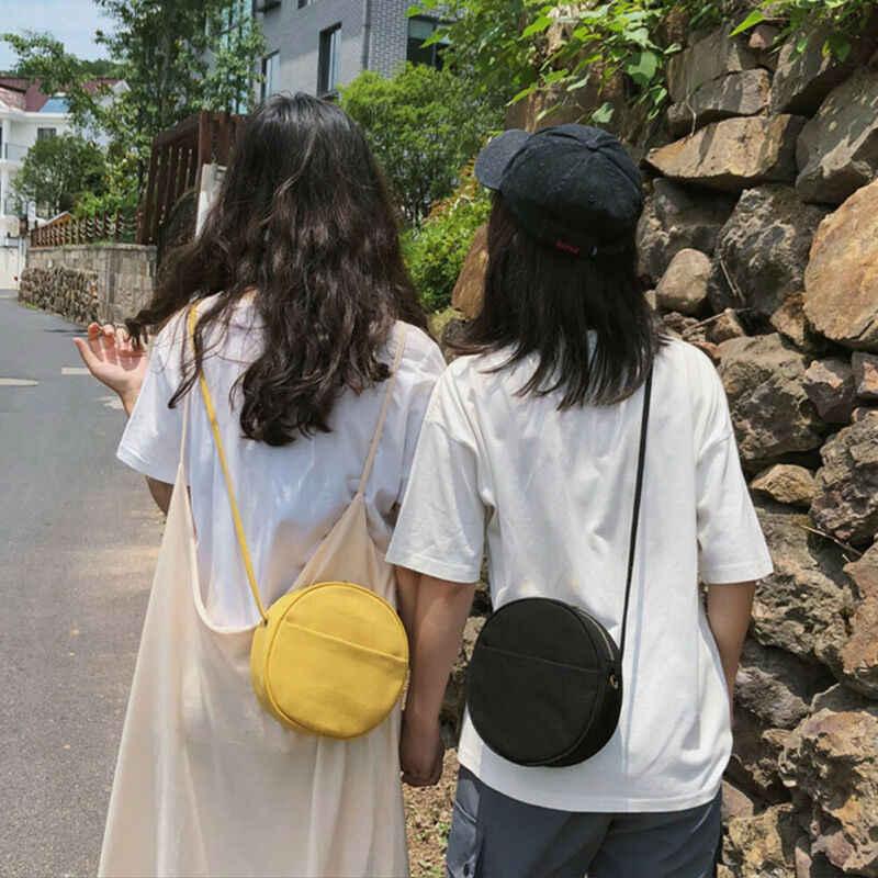 2019 kobiece bawełniane płótno Mini torebki damskie torebki na ramię okrągłe codzienne crossbody Cute Lady torebki torebka sprzęgła