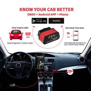 Image 3 - ELM327 WIFI skaner diagnostyczny samochodów Automotivo ODB 2 autoscankw903 ELM 327 Wi fi OBD2 Adapter Bluetooth dla Iphone Android