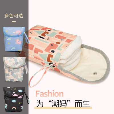 Multifunction Baby Diaper Storage Bag Backpack For Moms Waterproof Maternity Wetbag Reutilizable Travel Nappy Bag For Stroller