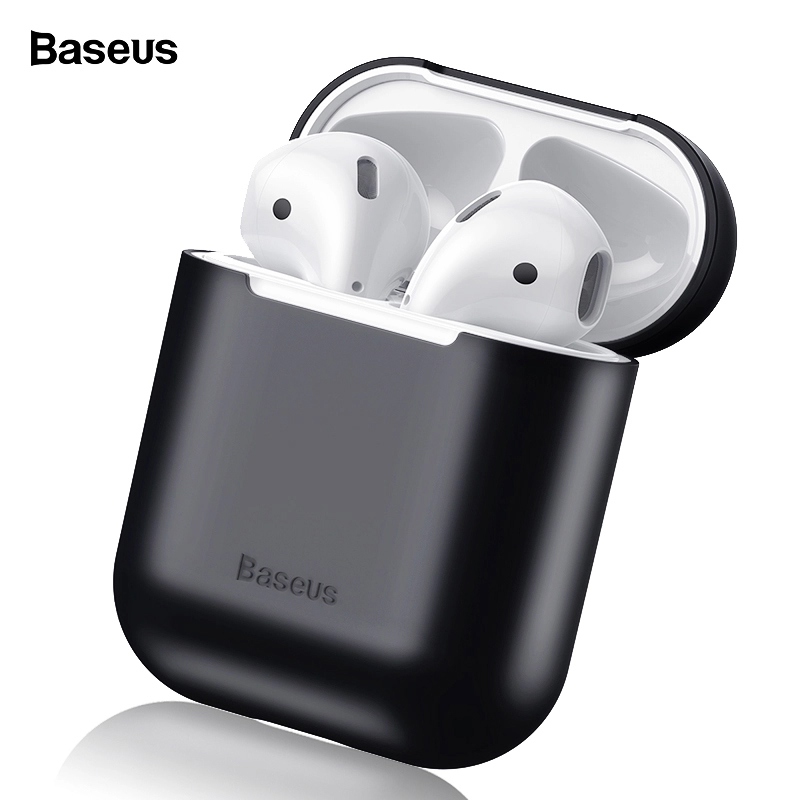 Baseus Earphone Case For Airpods 2 1 Silicone Case For Apple Air Pods Case Cover Shockproof Protective Coque Funda For Airpods