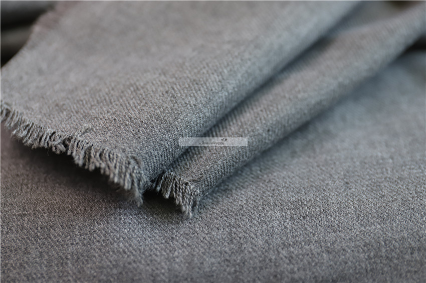 European and American soft wool fabrics light gray thin wool fabrics wool business delicate foundation one meter new product Fa image