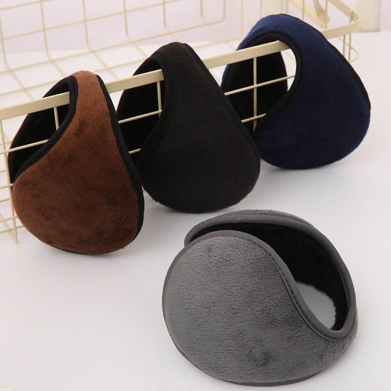 2019 Hot Fashion Unisex Solid Winter Earmuffs Soft Thicken Plush Ear Cover Protector Ear Muff Wrap Band Warmer Earflap For Men