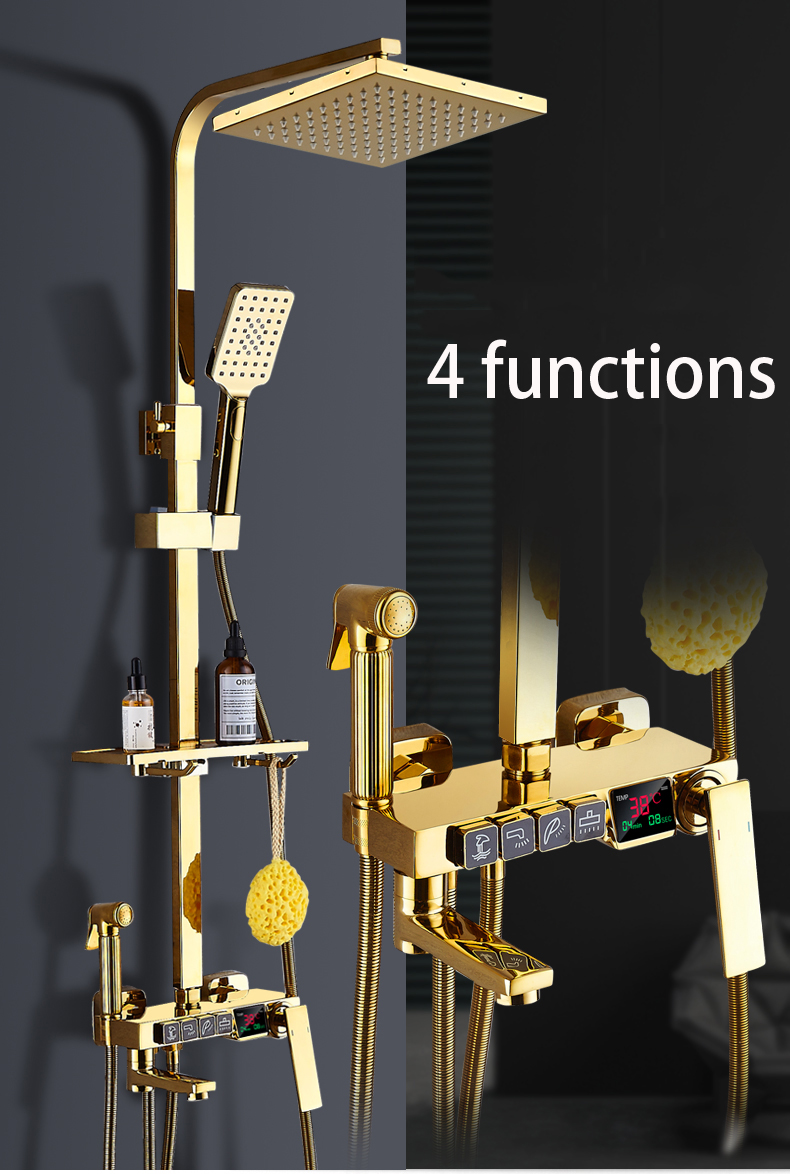 Thermostatic Shower faucet bathroom shower SET Bathtub faucet mixer with display digital shower set