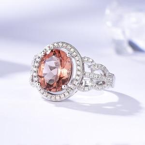 Image 4 - Kuololit Zultanite Edelstein Ringe für Frauen Solide 925 Sterling Silber Farbe Ändern Diaspore Handgemachte Braut Geschenke Edlen Schmuck