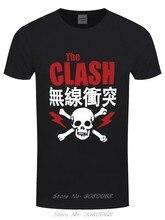 클래쉬 레드 남자 블랙 티셔츠 루즈 블랙 남자 티셔츠 옴므 티셔츠 여름 참신 만화 티셔츠 기본 셔츠