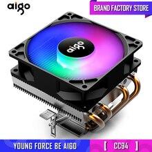 Chłodnica procesora AIGO chłodzenie TDP 280W 4 wentylator procesora heatpipe 3Pin PC chłodzenie 90mm wentylator chłodniczy rozpraszacz ciepła/115X/775/1366/AM2 +/AM3 +/AM4/2011