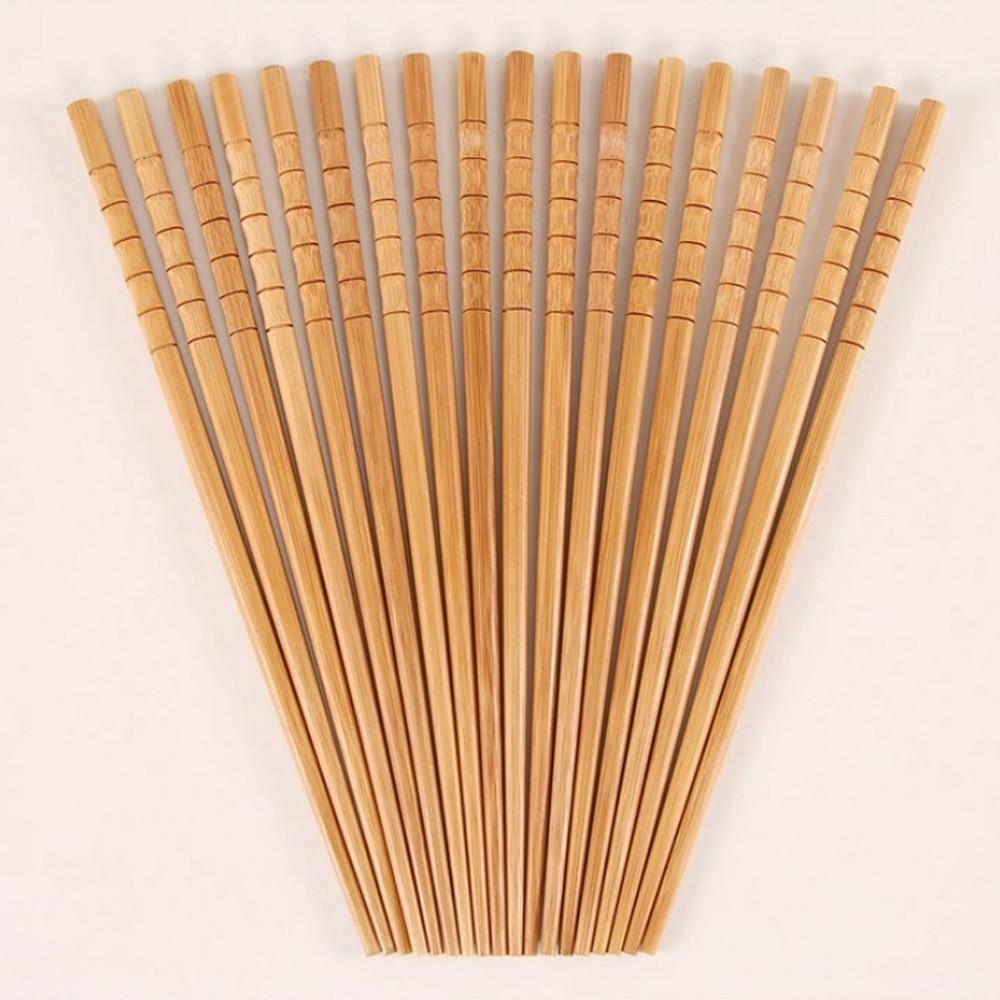 10 пар ручных палочек для еды из натурального бамбука здоровые