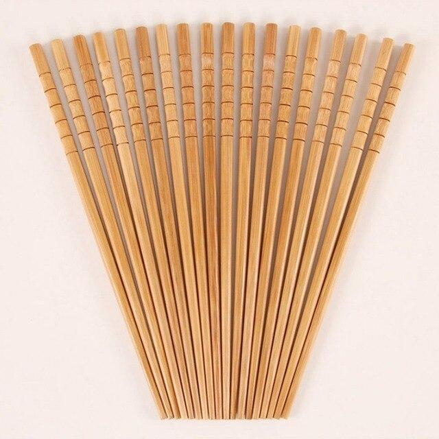 Фото 10 пар ручных палочек для еды из натурального бамбука здоровые
