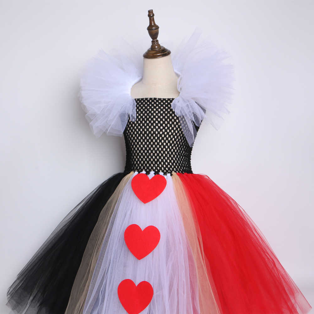 Tutu Dreams Alice Red Queen Costume for Girls 1-12Y with Headband Birthday Halloween Party