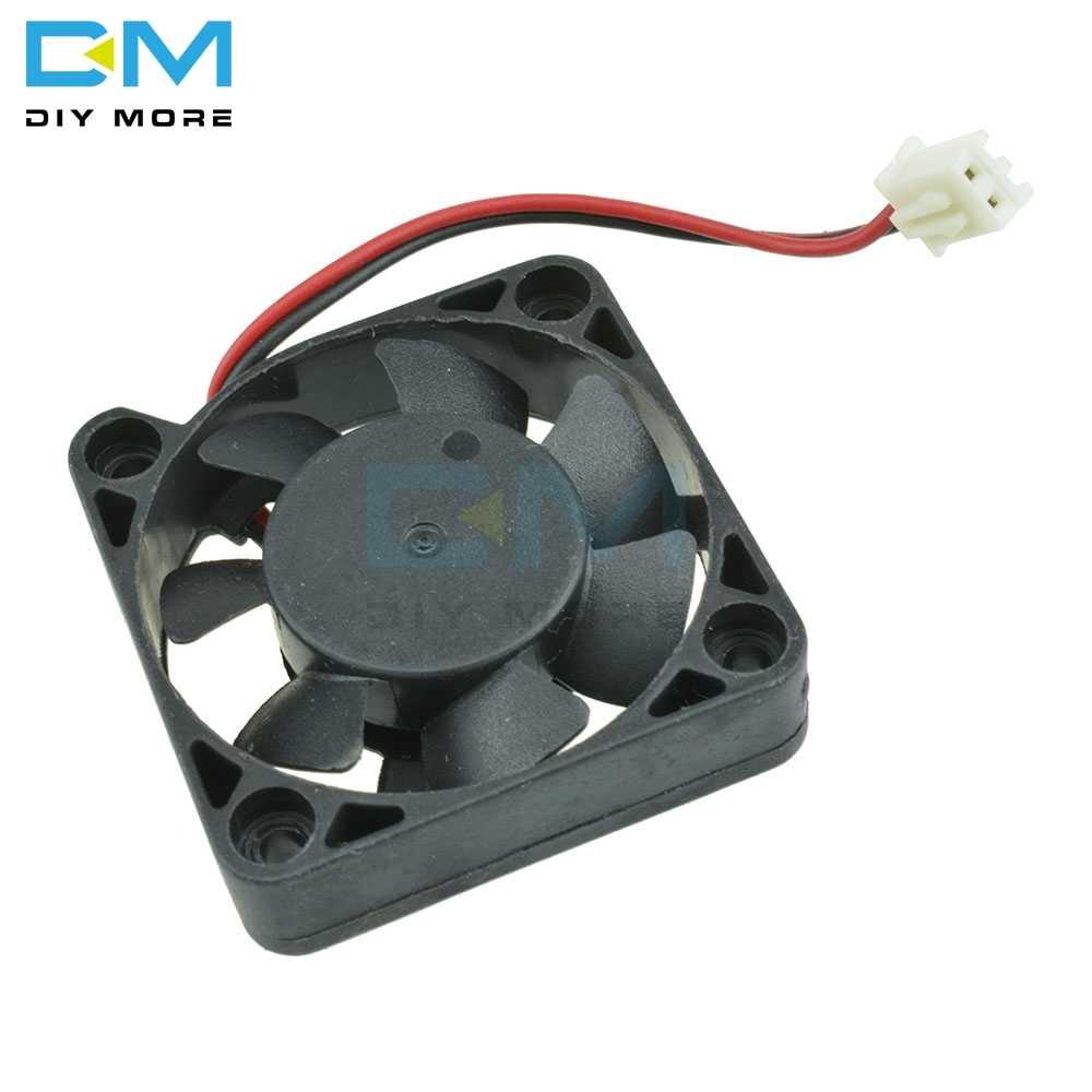1 Buah Hitam 2 Pin 12V 40Mm X 10Mm 4010 Brushless DC Fan PC Kipas Pendingin
