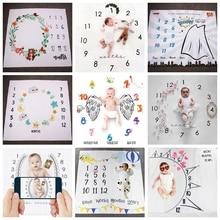 Cute Baby Infant Milestone Blanket Growth Milestone Blanket