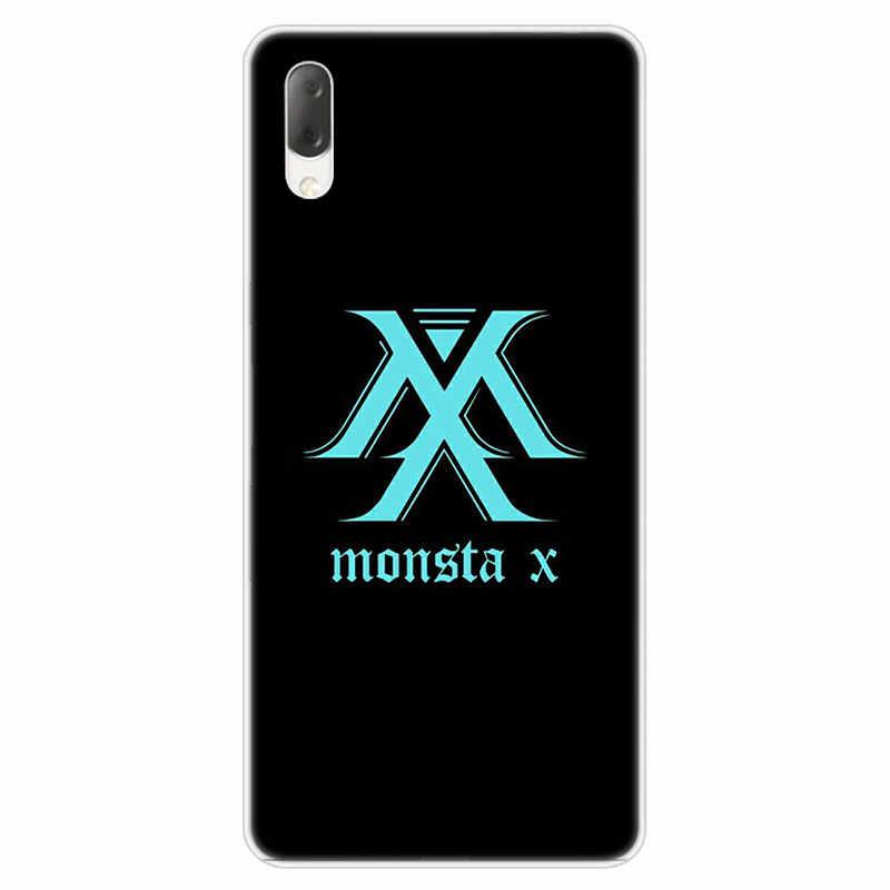 חם Monsta X KPOP ילד מקרה קשה עבור Sony Xperia L1 L2 L3 X XA XA1 XA2 Ultra E5 XZ XZ1 XZ2 קומפקטי XZ3 M4 אקווה Z3 Z5 פרימיום