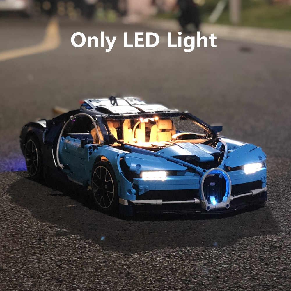 (Tylko światło) LED światło dla Technic Bugatti Chiron 42083 klocki klasyczny Model zabawki (klocki zestaw brak w zestawie)
