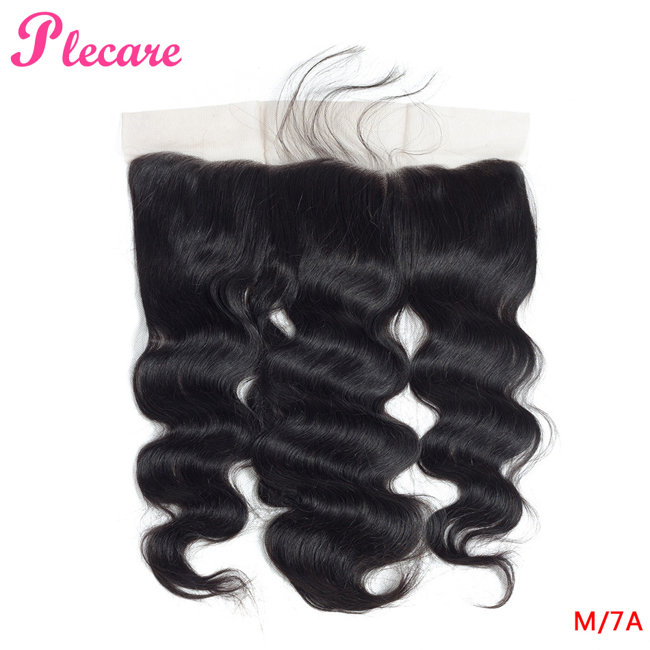 Plecare 13*4 Lace Frontal Brazilian Body Wave 8-20 Inch 1 Pcs Natural Color Middle Ratio Non-remy 100% Human Hair Extensions