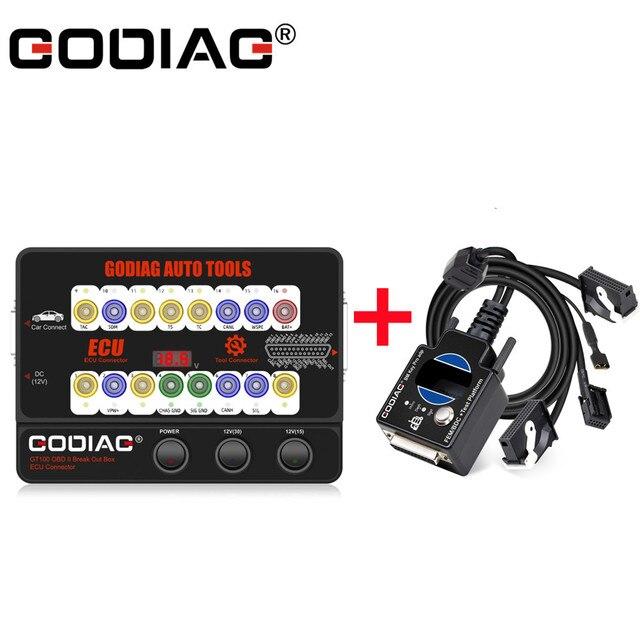 Godiag GT100 obd iiブレイクアウトボックスecuコネクタテストプラットフォームbmw fem/bdcプログラミングecuメンテナンスツール