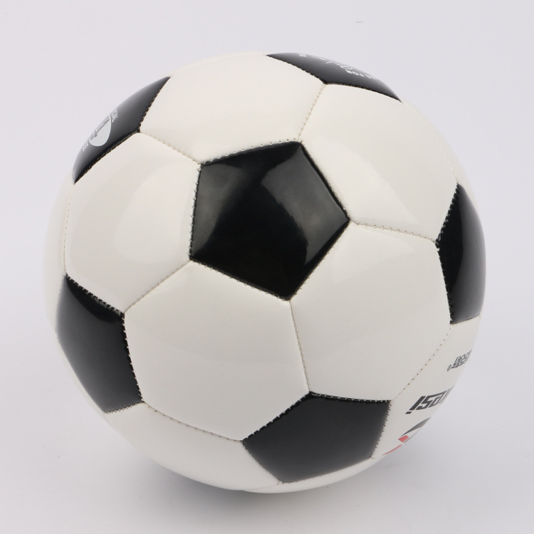 Rex Football PVC4 No. Football Black And White Block Training Ball Game With Ball Children Machine-sewing Soccer Supplies