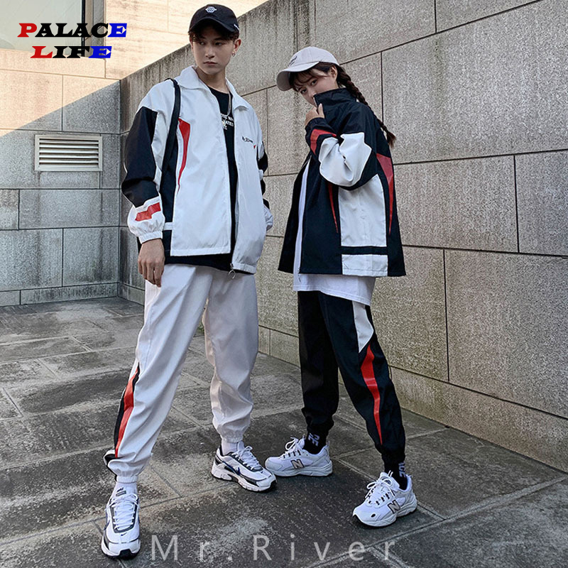 Casual Tracksuit Set Men Fashion 2020 Jogger Sports Sportswear Suits Spring Two Pieces Sweatshirt Sweatpant Lovers Tracksuit