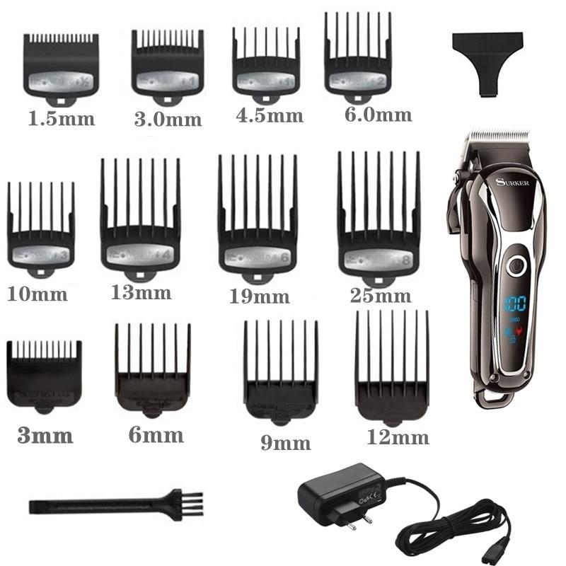 Image 3 - TURBO barber hair clipper professional men hair trimmer LCD electric hair cutting machine salon tool haircut cord&cordlessHair Trimmers   -
