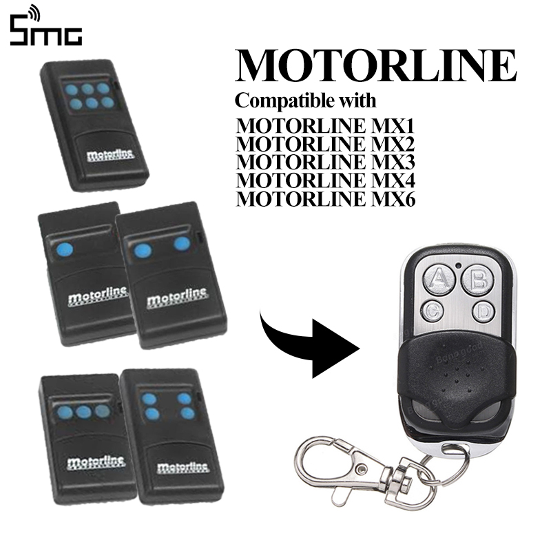 MOTORLINE MX1 MX2 MX3 MX4 MX6 433.92MHz Remote Control MOTORLINE Fixed Code Controller Clone Key Duplicator For Garage Command