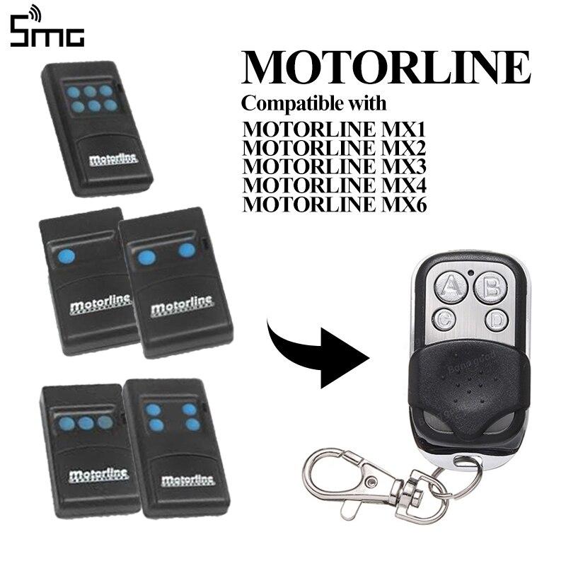 MOTORLINE MX1 MX2 MX3 MX4 MX6 433.92MHz Remote Control MOTORLINE Fixed Code Controller Clone Key Duplicator For Garage Command