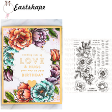 23Pcs 11*16cm Rubber Clear Stamps for Scrapbookingg Embossing Paper Craft Silicone Flower Alphabet Stamp Card