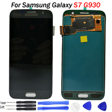 For SAMSUNG Galaxy S7 Display G930 G930F Touch Screen Digitizer Assembly Replacement TFT bright adjustable LCD