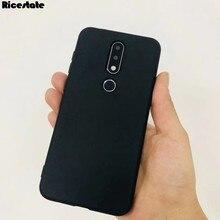 Ultra fino Fosco Capa de Silicone Para Nokia 7.2 6.2 3 5 6 7 8 2.1 3.1 5.1 6.1 3.2 4.2 7.1 8.1 Mais X5 X6 X71 TPU Caso Macio Preto