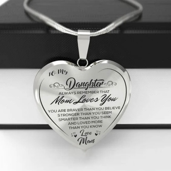 High Quality To My Daughter Love Mom Heart Necklace Gold Silver Color Inspirational Letter Pendant Necklaces Choker Jewelry Gift thomasine robinson inspirational poems from my heart to yours
