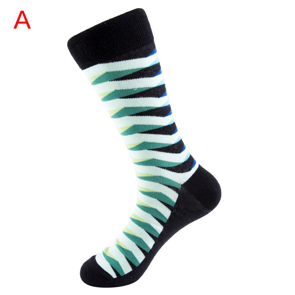 ORLVS счастливые носки унисекс осень зима длинные носки Мужская calcetines skarpetki meia calcetines hombre divertido хлопковые носки#4 - Цвет: A