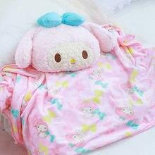 Плюшевое бархатное аниме одеяло 40 см с красивой мелодией теплое