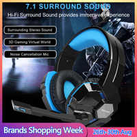 TeckNet USB Gaming Headset Wired 7,1 Kanal Surround Sound USB PC Computer Gaming Headset Über Ohr Kopfhörer