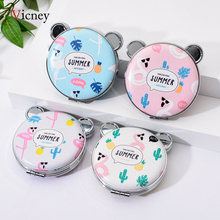 Vicney 2019 New Portable Pocket Double Sided Mirror Heart Shaped Design Mini Makeup Cosmetic Compact Mirrors