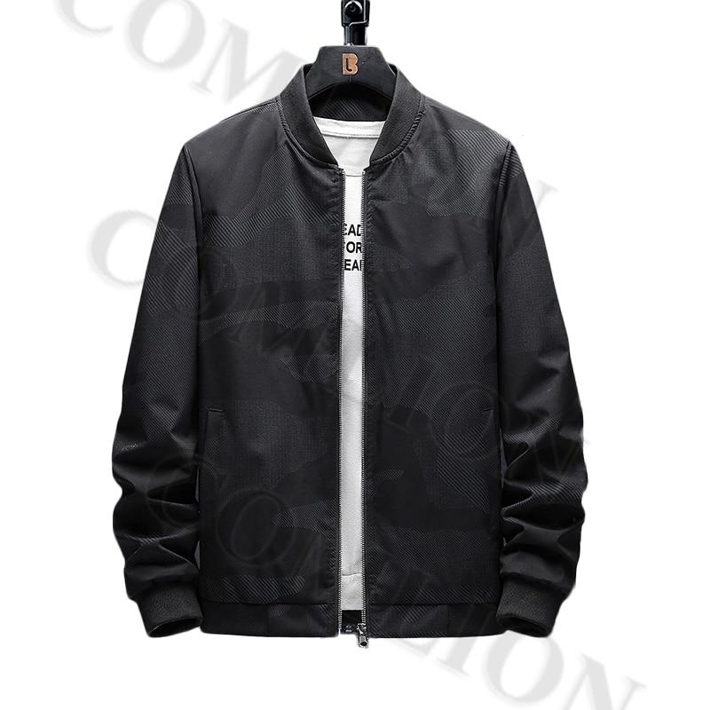 Male Casual Baseball Bomber Jacket Mens Overcoat Plus Size Zip Up Men Jacket Spring Autumn Brand Windbreaker Slim Fit Coats 8XL