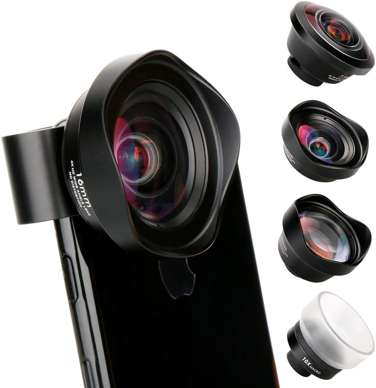 Ulanzi 10X Macro Groothoek Lens Kit Tele Fisheye Telefoon Camera Lens Voor Iphone 11 Pro Max Samsung S10 Plus huawei P30 Pro