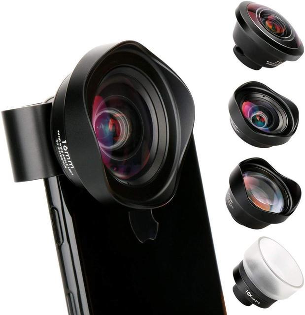 Ulanzi 10X Macro Wide Angle Lens Kit Telephoto Fisheye Phone Camera Lens for iPhone 11 Pro Max Samsung S10 Plus Huawei P30 Pro