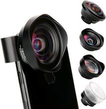 Ulanzi 10Xมาโครมุมกว้างเลนส์Telephoto Fisheyeโทรศัพท์เลนส์กล้องสำหรับiPhone 11 Pro Max Samsung S10 Plus huawei P30 Pro