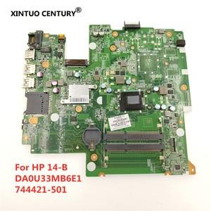 744421-501 744421-001 744421-601 для HP 14-B 14-B109WM материнская плата для ноутбука с процессором 877 1,4 ГГц DA0U33MB6E1 100% рабочий